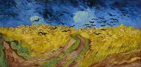 최근 과학자들에 의해 미술 등 얘술작품들이 대중과 어떻게 소통하고 있는지 그 비밀이 밝혀지고 있다. 사진은 반 고흐의 '까마귀가 있는 언덕' .