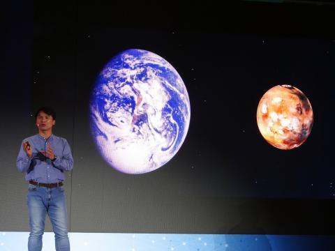 문경수 탐험가가 나사의 화성탐사 계획과 탐사프로젝트에 대해 설명하고 있다. ⓒ 김은영/ ScienceTimes
