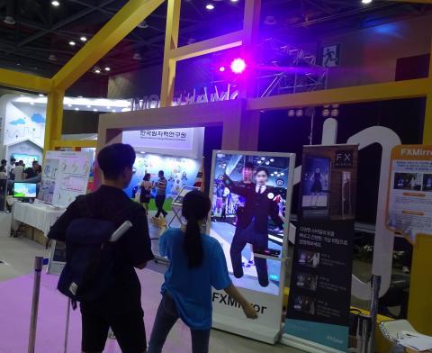 증강현실 기반의 3D 가상 피팅 솔루션 체험. ⓒ 김은영/ ScienceTimes