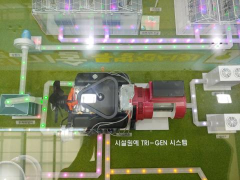 농진청과 한국기계연구원이 공동 개발한 이 시스템은 세계 최초로 가스엔진과 발전기에 히트펌프(GHP)를 적용했다.  ⓒ 송찬영