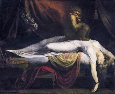 어떤 이유로 인해 잠을 길게 자지 못 하고 자주 깨는 사람들은 동맥경화 위험이 높다는 연구가 나왔다. 스위스 화가인 요한 하인리히 퓌슬리(1741~1825)의 유화 작품 '악몽'(1781) CREDIT: Wikimedia Commons/ Detroit Institute of Arts
