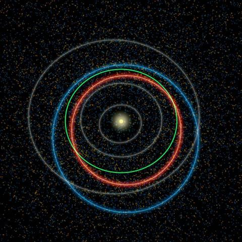 지구는 왜 서쪽에서 동쪽으로 자전과 공전을 하고 있는 것인지, 과학자을 통해 그 의문이 밝혀지고 있다. 사진은 태양을 돌고 있는 지구 등 행성 궤도.    ⓒNASA