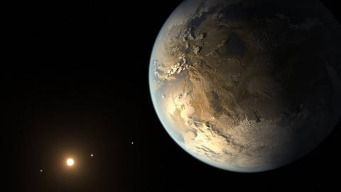 """지난 2014년 '케플러 우주선'을 통해 발견한 두번 째 지구 후보  """"Kepler-452b'의 모습. 생명체가 살고 있다는 추정이 이어지지만 증명이 되지않아 예산 배정을 놓고 정치권과 마찰이 이어지고 있다."""