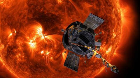 태양 코로나를 향해 날아가는 파커 호의 상상도. ⓒ NASA