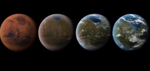 테라포밍의 변화단계  ⓒ NASA