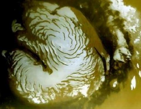 화성 양 극지방에는 다량의 이산화탄소가 드라이아이스 형태로 존재한다 ⓒ NASA