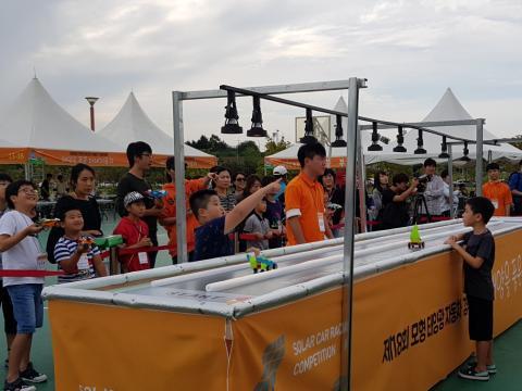모형 태양광자동차 경주대회가 초등부와 중등부로 나뉘어 열렸다. ⓒ 김순강 / ScienceTimes