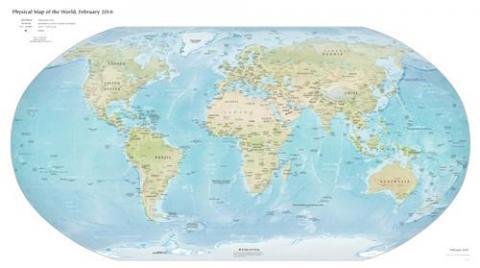 영국 중심의 세계지도를 보면 우리가 극동으로 불리는 이유를 알 수 있다.  ⓒ 위키백과 자료