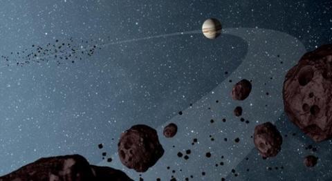 목성과 2개의 트로이군(群) ⓒ NASA/JPL-Caltech