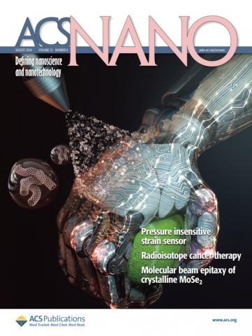 스프레이 코팅 기법 활용 로봇 피부 연구 성과를 담은 ACS 나노 표지. ⓒ 한국연구재단
