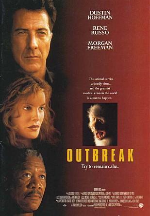 에볼라바이러스에 관해 잘 묘사된 영화 아웃브레이크의 포스터 ⓒ Warner Bros