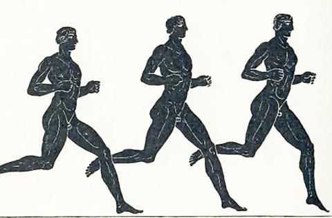 인간은 단일유전자 하나의 변이로 동물계의 뛰어난 장거리 선수가 됐다는 연구가 나왔다. 옛 그리스의 장거리 경주 선수들. 원본은 Gardiner, E. Norman (1864-1930)  Credit : Wikimedia Commons / RickyBennison