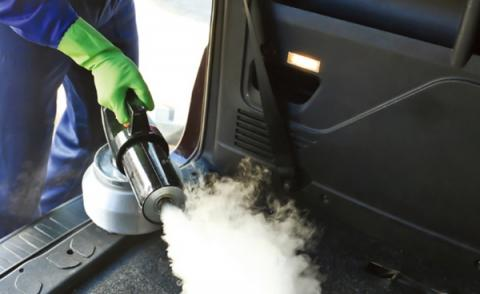 스팀 방식은 차량 내부까지도 소독할 수 있다는 점이 장점으로 꼽힌다 ⓒ K-water