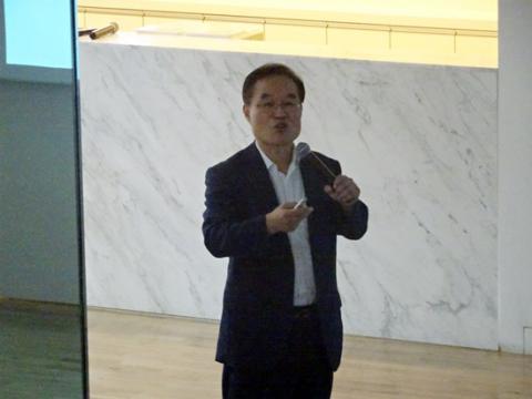 윤대상 경북대학교 교수는 한국과학창의재단 주고나으로 개최된 '과학문화 해외 사례 세미나'에서 중국의 과학문화 사례를 공유했다. ⓒ 김은영/ ScienceTimes