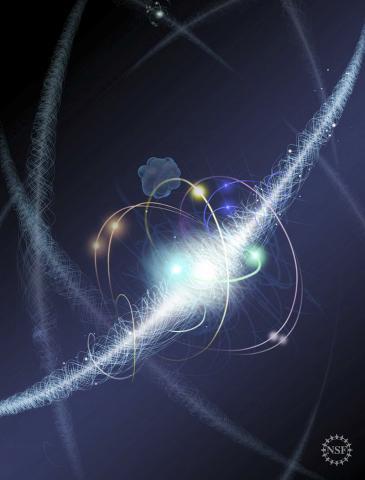 ACME 연구팀은 전례가 없는 정밀한 방법으로 전자의 모양을 살펴보고 완벽하게 둥글다는 것을 확인했다. 이것은 만약 다른 입자가 존재하더라도 기존 이론가들이 예상한 것과는 다른 속성을 가졌다는 것을 암시한다.  CREDIT: Nicolle R. Fuller, National Science Foundation