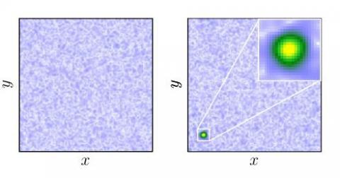러시아 과학자들이 은하계에 대한 수학적 모델을 사용해 암흑물질이 구형의 물방울(오른쪽 사진)과 유사하다는 사실을 밝혀냈다.  ⓒDmitry Levkov