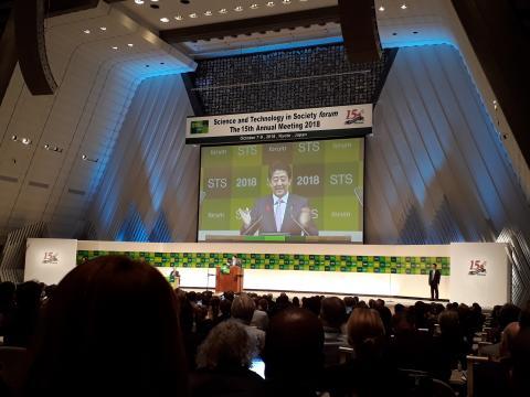 일본 아베 총리는 매년 STS포럼에 참석해 10분 가량 영어로 발표를 하고 1시간 동안 패널로 참여한다. ⓒ ScienceTimes