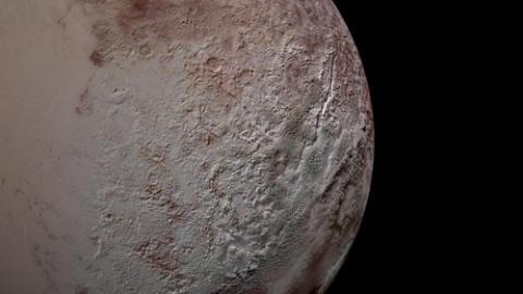 명왕성의 칼날 같은 표면 ⓒ NASA/존스홉킨스 대학 응용물리연구소