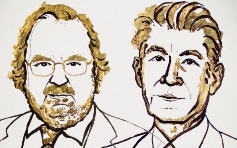 2018년 노벨 생리의학상을 수상한 미국의 제임스 P. 앨리슨 교수와 일본 쿄토대 의과대 혼조 다스쿠 교수. 1, 2세대 항암제의 부작용을 해소한 면역항암제를 개발한 공로를 인정받았다.  ⓒ nobelprize.org