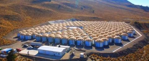 멕시코의 휴화산 중턱에 위치한 HAWC 전경  ⓒ hawc-observatory.org
