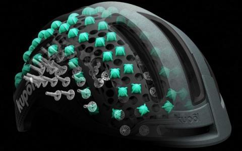 기존 헬멧의 안전성을 훨씬 능가하는 신개념 헬멧이 3D 프린터로 개발됐다 ⓒ KUPOL