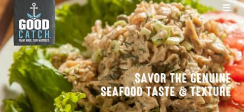 식물성 소재로 참치맛을 내는 대체식품을 개발한 goodcatchfoods의 홈페이지 ⓒ good catch foods