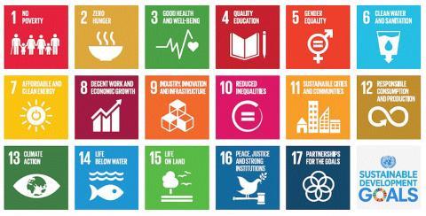 유엔과 국제사회는 지난 2016년부터 2030년까지 인류의 보편적 문제와 지구환경의 지속가능한 발전 목표(Sustainable Development Goals, 'SDGs')를 위해 17개 분야를 선정하고 이를 발전시키기 위해 노력하고 있다. ⓒ UN.org