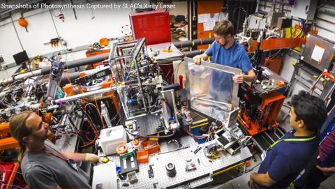미국 에너지부 산하 스탠포드 선형가속기센터(SLAC)에서의 X선 레이저 실험 준비 모습. CREDIT: SLAC National Accelerator Laboratory