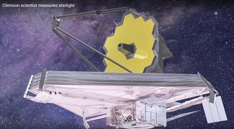 원시 은하 정보를 탐색하기 위해 2021년 발사 예정인 제임스 웹 우주망원경. 동영상 캡처. Credit: Clemson University's College of Science