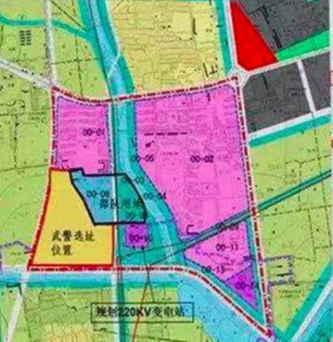베이징대 측이 공개한 새 캠퍼스가 조성될 지도. 분홍색으로 표시된 지역에 AI 연구 관련 주요 강의동이 들어설 장소다.  ⓒ 베이징대