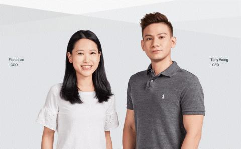 홍콩 스타트업 신화를 쓴 젊은이들. (사진 위: 샵라인의 직원들, 사진 아래 : 오른쪽부터 토니 웡 CEO와 피오나 라우 COO). ⓒ SHOPLINE