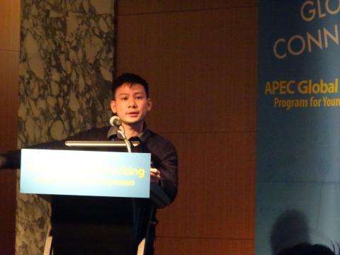 """토니 웡 대표는 지난달 25일 열린 'APEC 청년기업가 글로벌 네트워킹 컨퍼런스'에서 """"무엇보다도 긍정적인 마음과 소통방식이 사업을 성공으로 이끄는 열쇠""""라고 강조했다. ⓒ 김은영/ ScienceTimes"""