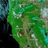 우주에서 본 美 캘리포니아…9개 상처는 산불에 할퀸 자국