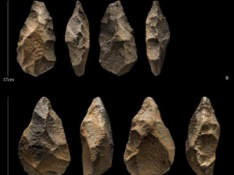 과거 초원 지역이었던 아라비아 사막 한복판에서 19만 년 전 구석기 시대 유물이 대량 발견되면서 인류 이동,  도구 진화 등  구석기 시대에 대한 새로운 접근이 불가피해졌다.    ⓒ Palaeodeserts/Ian R. Cartwright