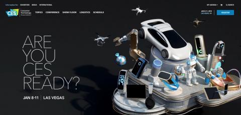'CES 2019'에 소개될 2019년의 주요 기술 트렌드는 인공지능(AI), 스마트홈, 디지털 헬스케어, e스포츠, 복원력을 갖춘 스마트시티인 것으로 알려졌다.  ⓒ CES 홈페이지(www.ces.tech) 캡처 화면.