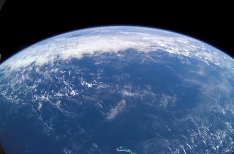 국제우주정거장에서 찍은 지구의 대양  ⓒ NASA