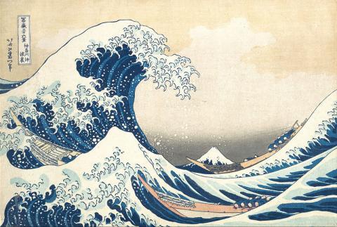 지진해일을 묘사한 19세기 일본 화가의 그림 ⓒ Wikipedia
