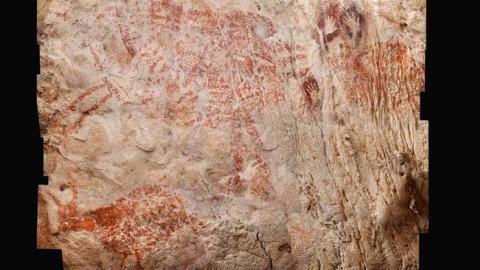 5만1800년 전에 그려진 동굴 벽화가  보르네오 섬 동쪽 칼리만탄 지역에 있는 루방 제리지 살레이 동굴에서 발견됐다. 이전의 프랑스 쇼베 동굴 벽화보다 5000년 이상 앞선 것이다.  ⓒ Luc-Henri Fage