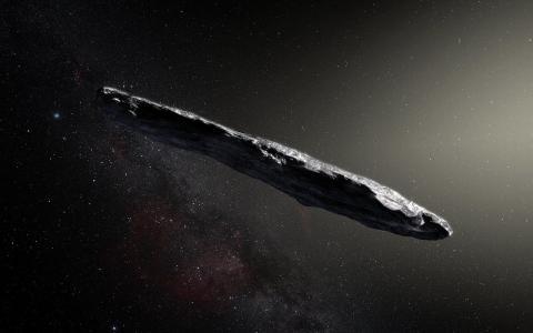 태양계 방문 첫 외계 천체 '오무아무아' 혜성 상상도