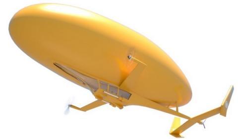 드론과 비행선의 장점 만을 딴 비행체인 '플림프'