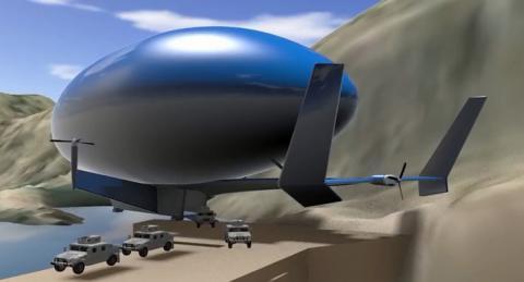 큰 비행장이 필요없는 관계로 섬이나 고립지형의 운송 용도로 활용될 전망이다 ⓒ Egan Airships