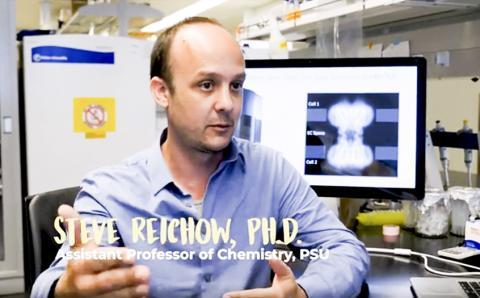 연구를 수행한 미국 포틀랜드 주립대 라이코우 조교수가 비디오에서 연구 결과를 설명하고 있다. 동영상 캡처.  CREDIT: Portland State University