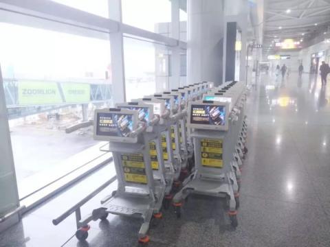 중국 황화국제공항(黄花国际机场)에 배치된 '스마트 카트' 모습 ⓒ 임지연 / ScienceTimes