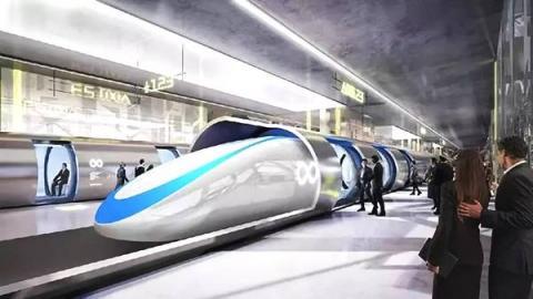 중국항천과공집단공사가 최근 시속 4000km의 초고속 열차 'T-FLIGHT'를 소개해 화제가 되고 있다.  ⓒ 중국 국영방송 CCTV 방영 내용 캡쳐