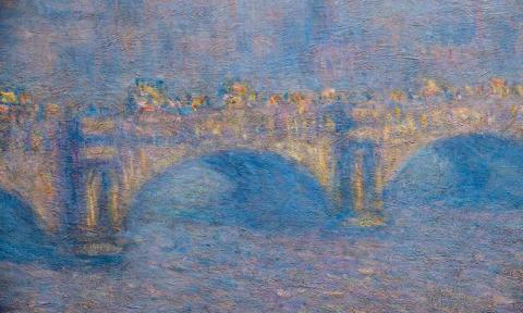 로체스터 미술관에 소장하고 있는 인상파화가 모네의 작품 '테임즈 강 위의 워털루 브리지'. 같은 장소에서 시간을 바꿔가며 그린 40여 편의 연작으로 최근 과학자들이 색상 분석을 통해 모네가 탁월한 뇌과학적인 지식이 있었음을 확인하고 있다.