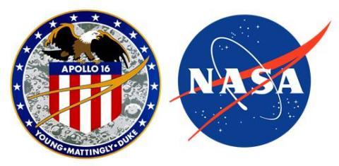 아폴로 16호 배지와 NASA 로고 ⓒ 위키백과 자료