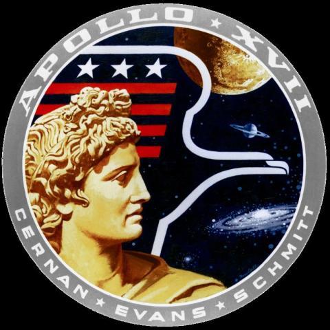 아폴로 17호 배지. 도전정신을 강조하고 있다. ⓒ 위키백과 자료