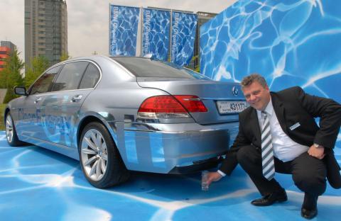 독일 BMW사가 개발한 수소차 '하이드로젠7'.