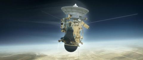 카시니호가 토성 대기권으로 진입하기 전 상상도  ⓒ NASA/JPL-Caltech 제공