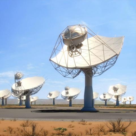 세계 최대의 전파망원경으로 추진되는 SKA 상상도  ⓒ SKA 홈페이지 캡처